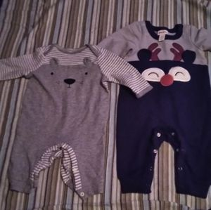 Baby boy Cat &Jack winter one peice outfits